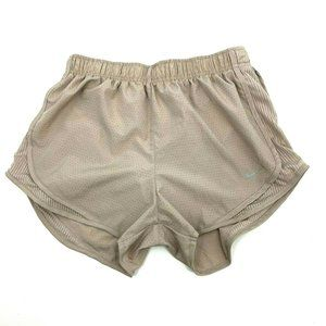 "Nike Dri-Fit Running Shorts womens M Beige 3"" inse"